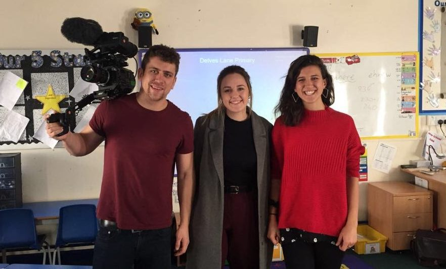 ITV filming for 'Stammer School' with Emily Booth