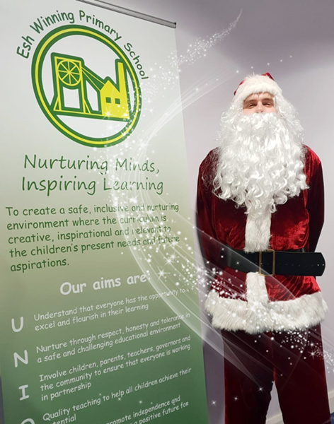 PK Education consultant dressed as Father Christmas