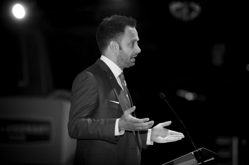 Karl speaking at PK Education Awards